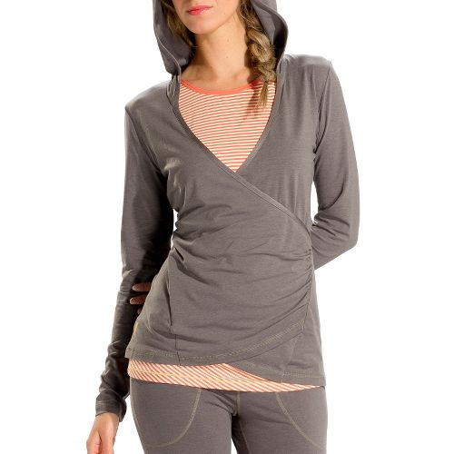 Womens Lole Meditation 2 Long Sleeve No Zip Technical Tops - Storm S
