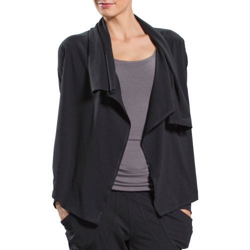 Womens Lole Relaxation Cardigan Long Sleeve No Zip Technical Tops - Black XS