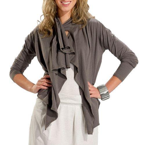 Womens Lole Relaxation Cardigan Long Sleeve No Zip Technical Tops - Storm L