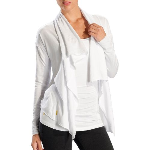 Womens Lole Relaxation Cardigan Long Sleeve No Zip Technical Tops - White XL