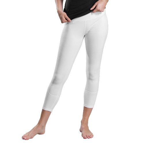 Womens Lole Vinyasa Capri Tights - White L