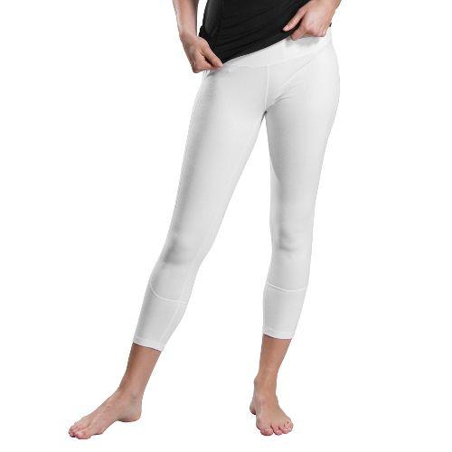 Womens Lole Vinyasa Capri Tights - White XS