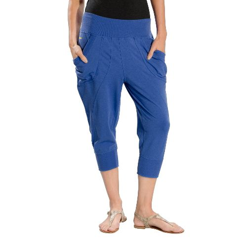 Womens Lole Lotus Capri Pants - Dazzling Blue L