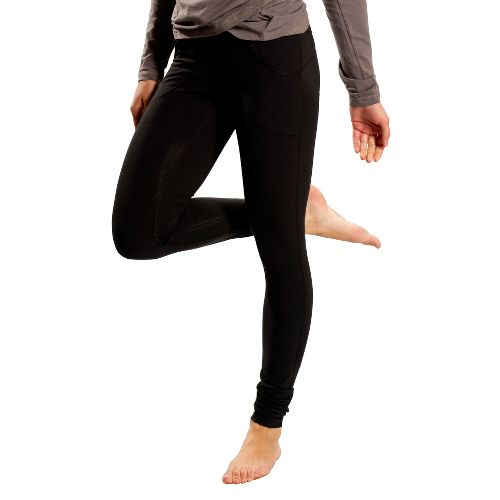 Womens Lole Salutation Pant Fitted Tights - Black XS