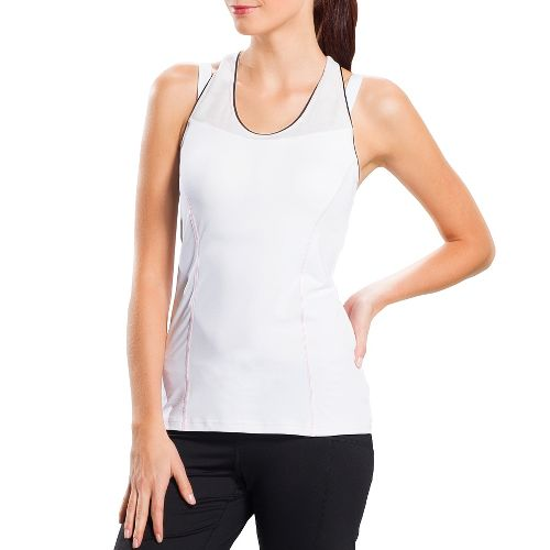 Womens Lole Central Tank Sport Top Bras - White L
