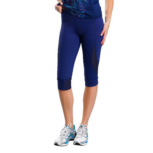 Womens Lole Run Capri Tights - Evening Blue XS