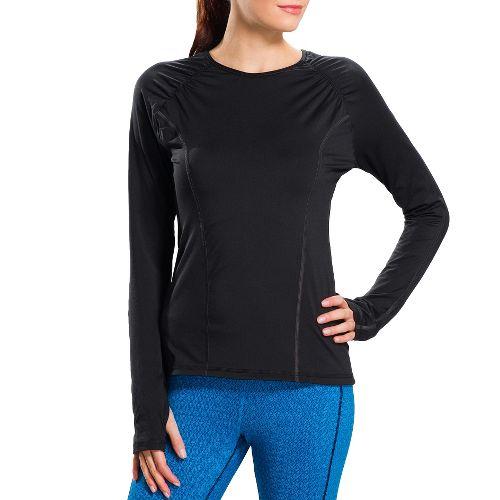 Womens Lole Lovely Long Sleeve No Zip Technical Tops - Black S