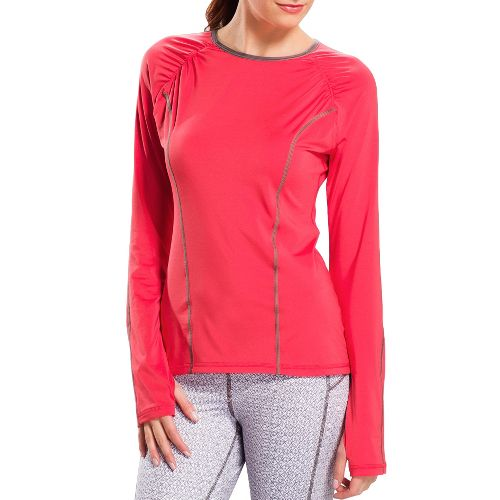 Womens Lole Lovely Long Sleeve No Zip Technical Tops - Folly XS