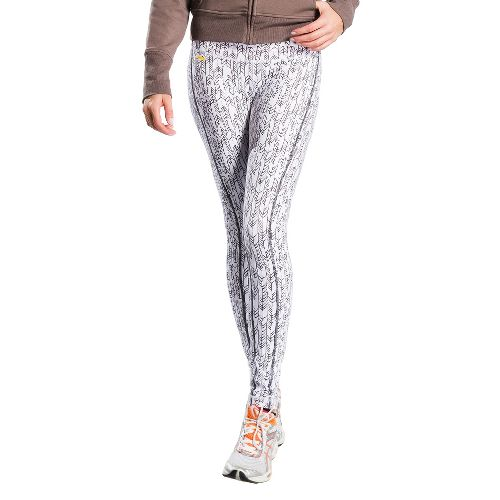Womens Lole Glorious Legging Fitted Tights - White Mini Weave S