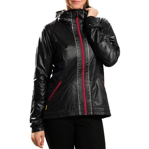 Womens Lole Cheer Running Jackets - Black M