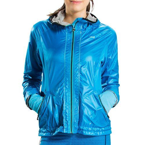 Womens Lole Cheer Running Jackets - Methyl Blue XL