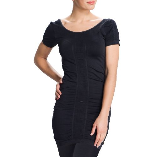 Womens Lole Limber Tunic Short Sleeve Technical Tops - Black L/XL