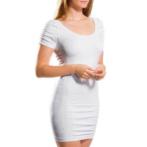 Womens Lole Limber Tunic Short Sleeve Technical Tops - White S/M