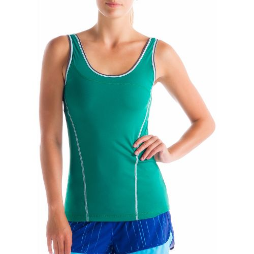 Womens Lole Silhouette Up Tank Sport Top Bras - Glade Green M