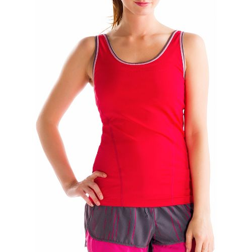 Womens Lole Silhouette Up Tank Sport Top Bras - Pomegranate M