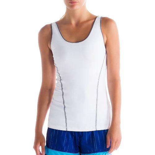 Womens Lole Silhouette Up Tank Sport Top Bras - White M