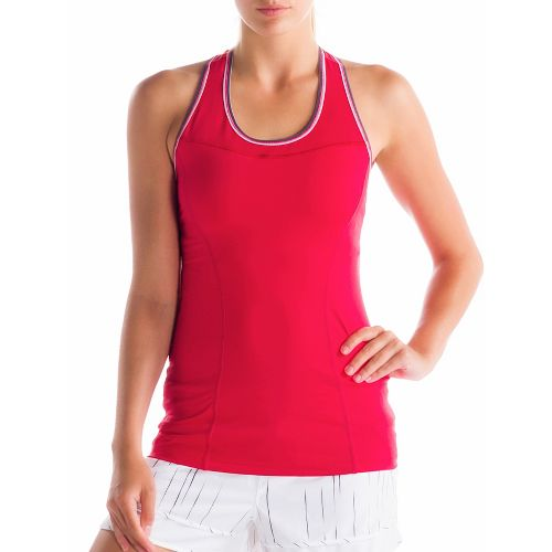 Womens Lole Central 2 Tank Sport Top Bras - Pomegranate L
