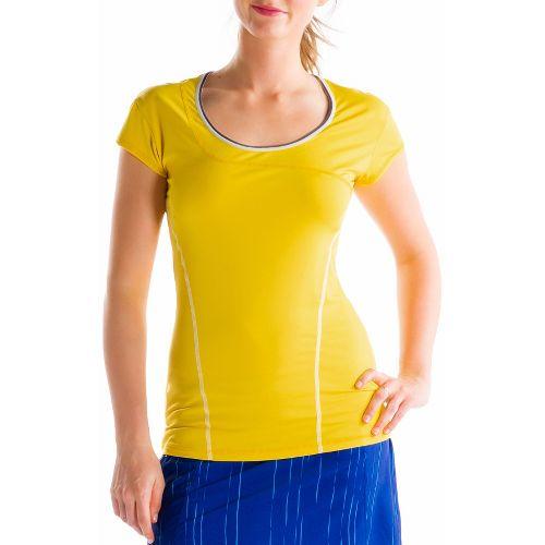 Womens Lole Cardio Short Sleeve Technical Tops - Lole L