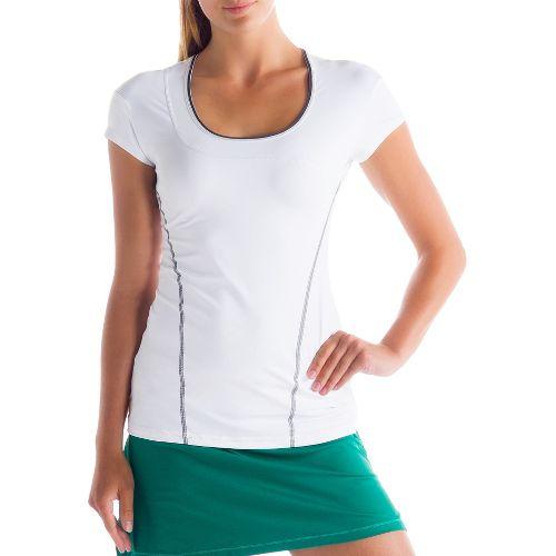 Womens Lole Cardio Short Sleeve Technical Tops - White XS