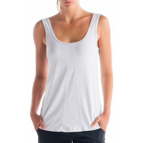 Womens Lole Fancy Tanks Technical Tops - White Stripe M
