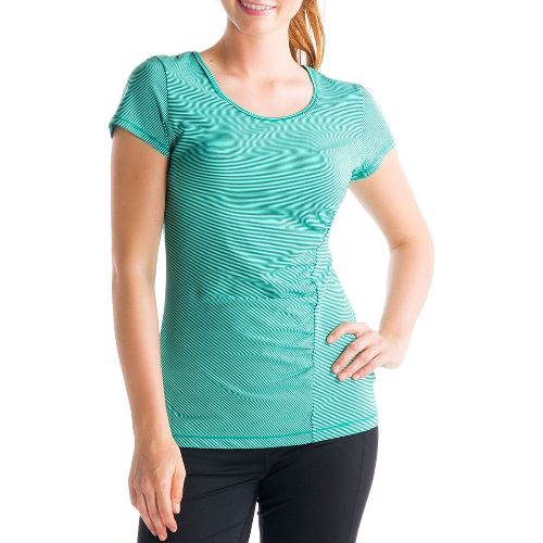 Womens Lole Curl Short Sleeve Technical Tops - Glade Green L