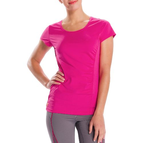 Womens Lole Curl Short Sleeve Technical Tops - Guava S