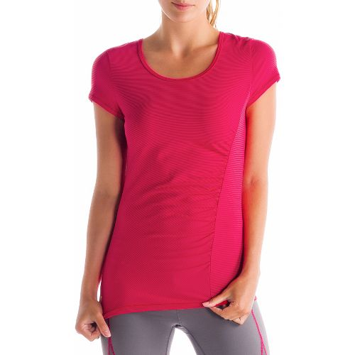 Womens Lole Curl Short Sleeve Technical Tops - Pomegranate L