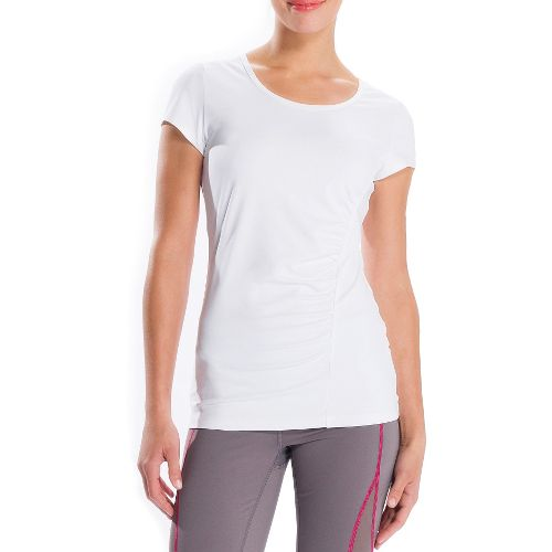 Womens Lole Curl Short Sleeve Technical Tops - White XS
