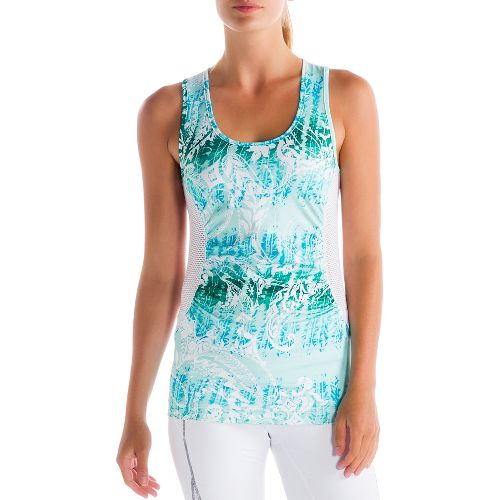 Womens Lole Betty Tanks Technical Tops - Clearly Aqua/Anatolia Multi XS
