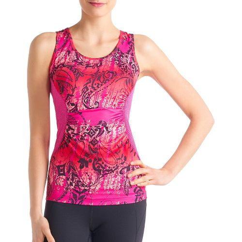 Womens Lole Betty Tanks Technical Tops - Guava/Anatolia Multi S