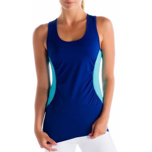 Womens Lole Betty Tanks Technical Tops - Solidate Blue L