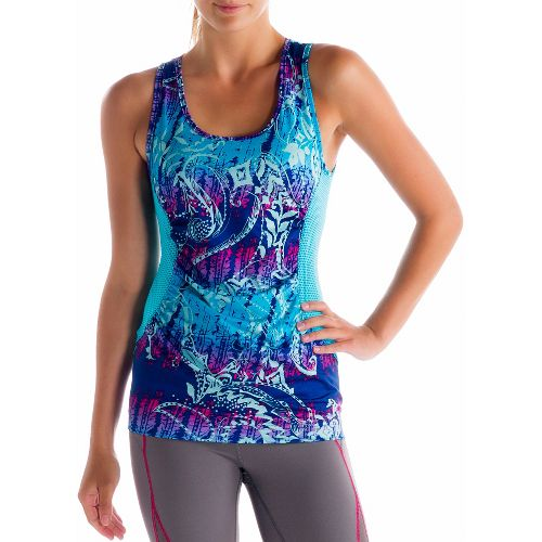 Womens Lole Betty Tanks Technical Tops - Solidate Blue/Anatolia Multi XS