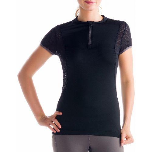 Womens Lole Keirin Short Sleeve Technical Tops - Black L
