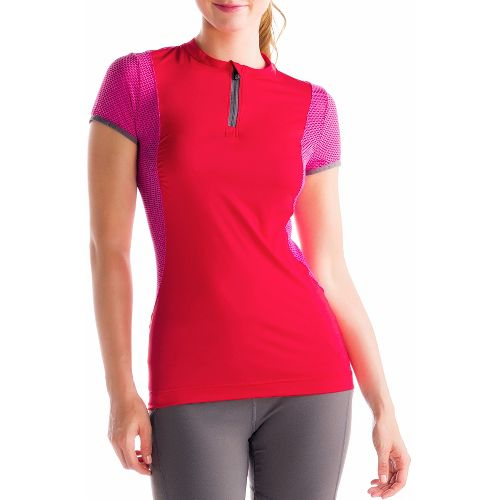 Womens Lole Keirin Short Sleeve Technical Tops - Pomegranate XS