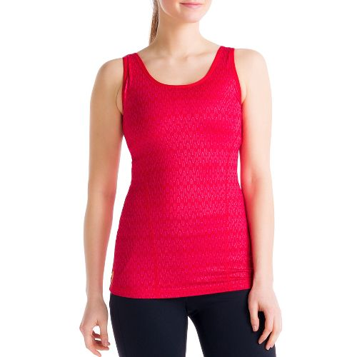 Womens Lole Silhouette Up 2 Tank Sport Top Bras - Pomegranate M