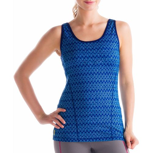 Womens Lole Silhouette Up 2 Tank Sport Top Bras - Solidate Blue XL