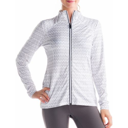 Womens Lole Essential 2 Cardigan Running Jackets - White XL