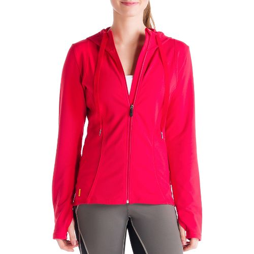 Womens Lole Studio Cardigan Running Jackets - Pomegranate XL