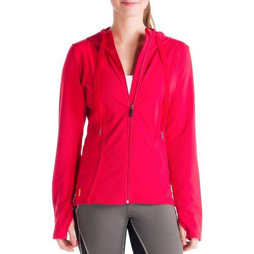 Womens Lole Studio Cardigan Running Jackets - Pomegranate XS