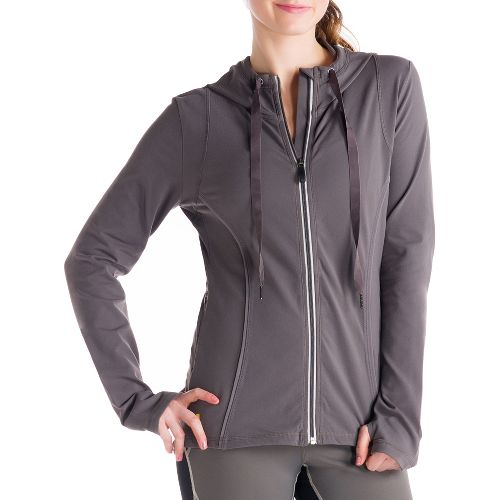 Womens Lole Studio Cardigan Running Jackets - Storm S
