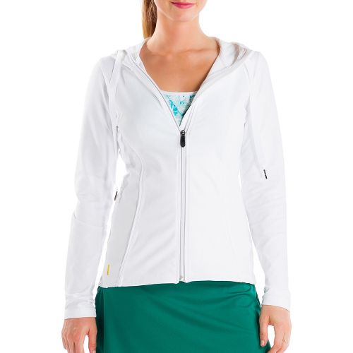 Womens Lole Studio Cardigan Running Jackets - White M