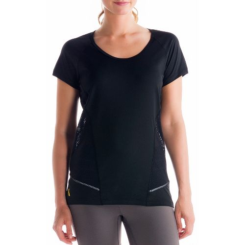 Womens Lole Marathon Short Sleeve Technical Tops - Black XS