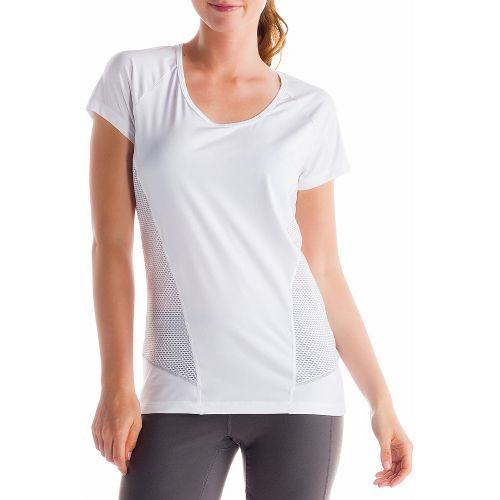 Womens Lole Marathon Short Sleeve Technical Tops - White L