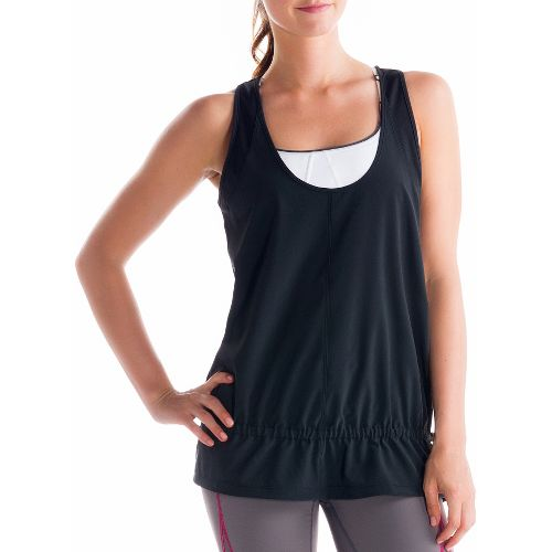 Womens Lole Jump-Up Tanks Technical Tops - Black S