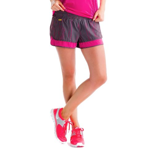 Womens Lole Step Lined Shorts - Storm/Broken Stripe L