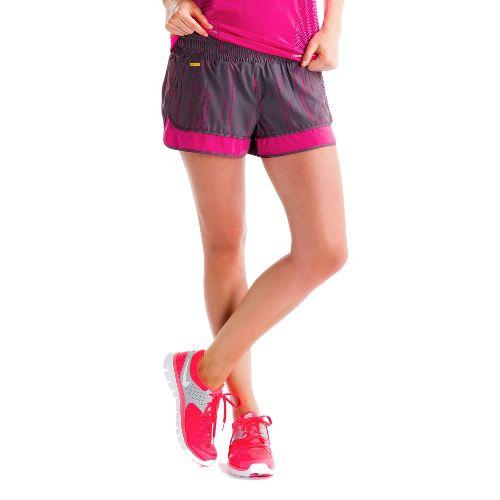 Womens Lole Step Lined Shorts - Storm/Broken Stripe XL