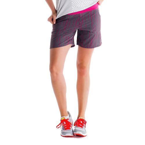Womens Lole Movement Unlined Shorts - Storm/Broken Stripe XS