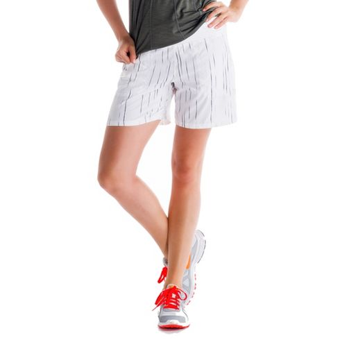 Womens Lole Movement Unlined Shorts - White/Broken Stripe L