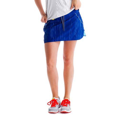 Womens Lole Speed Fitness Skirts - Solidate Blue/Broken Stripe S