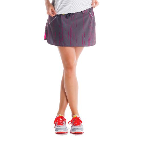 Womens Lole Speed Fitness Skirts - Storm/Broken Stripe XL